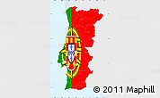 Flag Simple Map of Portugal, single color outside
