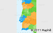 Political Simple Map of Portugal