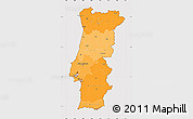 Political Shades Simple Map of Portugal, cropped outside