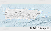 Classic Style 3D Map of Puerto Rico
