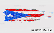 Flag 3D Map of Puerto Rico