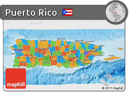 Free Political D Map Of Puerto Rico - Political map of puerto rico