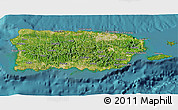 Satellite 3D Map of Puerto Rico