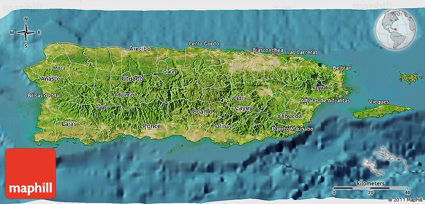 Satellite 3d Map Of Puerto Rico
