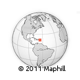 Outline Map of Humacao