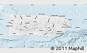 Classic Style Map of Puerto Rico