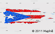 Flag Map of Puerto Rico