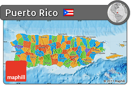 Free Political Map Of Puerto Rico