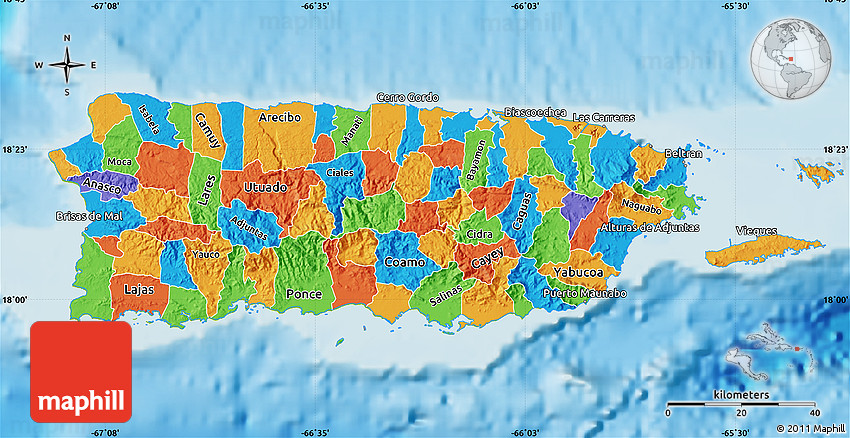 puerto rico geographical map Political Map Of Puerto Rico Physical Outside puerto rico geographical map