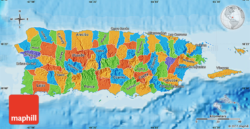 Political Map of Puerto Rico