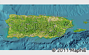 Satellite Map of Puerto Rico