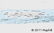 Gray Panoramic Map of Puerto Rico