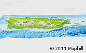 Physical Panoramic Map of Puerto Rico