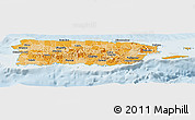 Political Shades Panoramic Map of Puerto Rico, lighten