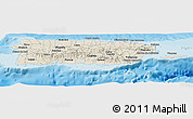 Shaded Relief Panoramic Map of Puerto Rico