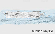 Silver Style Panoramic Map of Puerto Rico