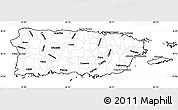 Blank Simple Map of Puerto Rico
