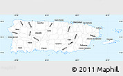 Classic Style Simple Map of Puerto Rico