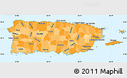 Political Shades Simple Map of Puerto Rico