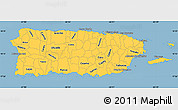 Savanna Style Simple Map of Puerto Rico