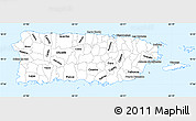 Silver Style Simple Map of Puerto Rico