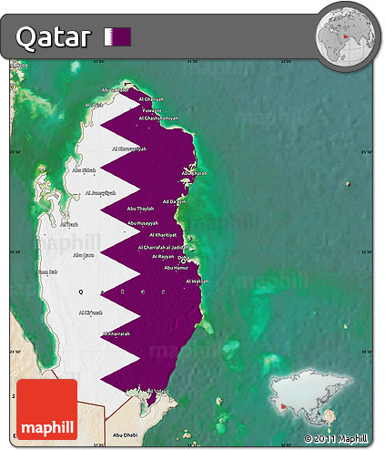 Free Flag Map of Qatar, satellite outside Qatar On A Map on jordan on a map, arabian peninsula on a map, arabian sea on a map, middle east on a map, baghdad on a map, west bank on a map, gaza strip on a map, turkmenistan on a map, tunisia on a map, russia on a map, swaziland on a map, iran on a map, dead sea on a map, singapore on a map, kuwait on a map, bahrain on a map, palestine on a map, turkey on a map, cyprus on a map, kirkuk on a map,