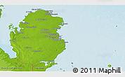 Physical Panoramic Map of Qatar