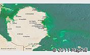 Satellite Panoramic Map of Qatar