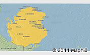 Savanna Style Panoramic Map of Qatar