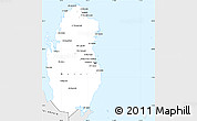 Silver Style Simple Map of Qatar