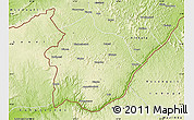 Physical Map of Boko
