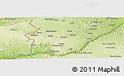 Physical Panoramic Map of Boko