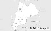 Silver Style Simple Map of Ngamaba (Brazzaville)