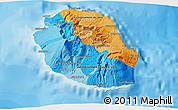 Political 3D Map of Reunion