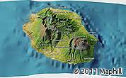 Satellite 3D Map of Reunion