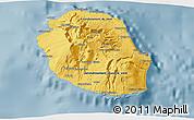 Savanna Style 3D Map of Reunion