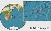 Satellite Location Map of Reunion