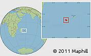 Savanna Style Location Map of Reunion
