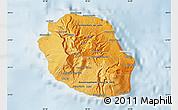 Political Shades Map of Reunion, lighten