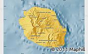 Savanna Style Map of Reunion