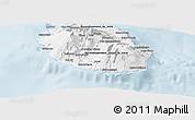 Gray Panoramic Map of Reunion
