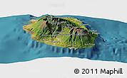 Satellite Panoramic Map of Reunion