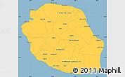 Savanna Style Simple Map of Reunion
