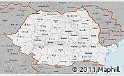 Gray 3D Map of Romania