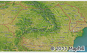 Satellite 3D Map of Romania