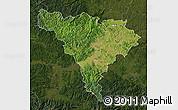 Satellite Map of Alba, darken