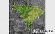 Satellite Map of Alba, desaturated