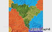 Satellite Map of Alba, political outside