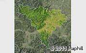 Satellite Map of Alba, semi-desaturated