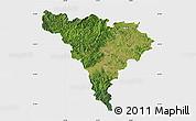 Satellite Map of Alba, single color outside